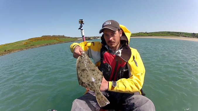 Holding Flounder 1 Front