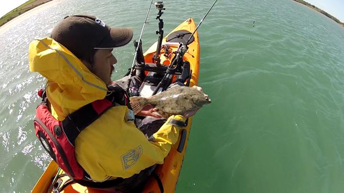 Holding Flounder 1 Rear